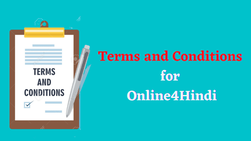 Terms and Conditions for Online4Hindi